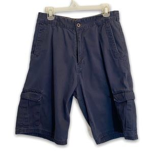Men's Cargo Shorts Navy Blue Size 32 Side Pockets